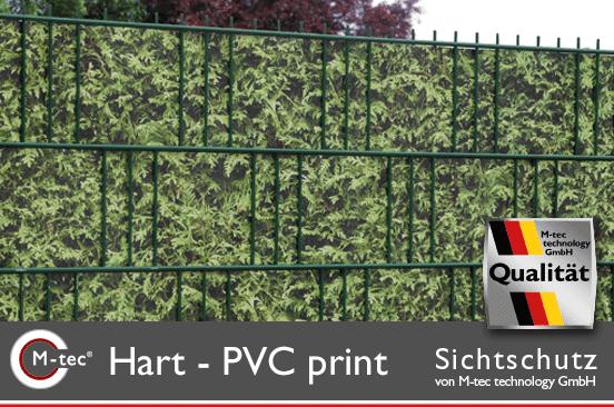 Hart-PVC Sichtschutzstreifen mit Motiv