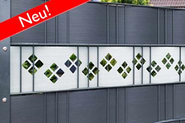 Hart-PVC Sichtschutzstreifen mit Dekor
